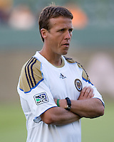 Philadelphia Union assistant coach John Hackworth. The Philadelphia Union and CD Chivas USA played to 1-1 draw at Home Depot Center stadium in Carson, California on Saturday evening July 3, 2010..