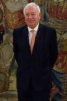 02.08.2012. Juan Carlos of Spain attends the audience with Mr. Mario Monti, President of the Council of Ministers of Italy, at the Palacio de la Zarzuela in Madrid. In the image Jose Manuel Garcia-Margallo, Minister of Foreign Affairs of Spain (Alterphotos/Marta Gonzalez) /NortePhoto.com<br /> <br />  **CREDITO*OBLIGATORIO** *No*Venta*A*Terceros*<br /> *No*Sale*So*third* ***No*Se*Permite*Hacer Archivo***No*Sale*So*third*