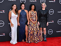 Aly Raisman, Jordyn Wieber, Tiffany Thomas Lopez & Sarah Klein at the 2018 ESPY Awards at the Microsoft Theatre LA Live, Los Angeles, USA 18 July 2018<br /> Picture: Paul Smith/Featureflash/SilverHub 0208 004 5359 sales@silverhubmedia.com