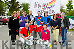 Front l-r Mike Connelly,Ashling Sugrue,Gillian Wharton Slattery,Cathie O'Shea,Ann Hogan,Pa Carey,Ted Moynihan,Maria McCarthy,Tina Moriarty and Martina O'Brien .Back l-r Nicole Mason and Christine Kline at  the Kerry Pride Parade on Saturday
