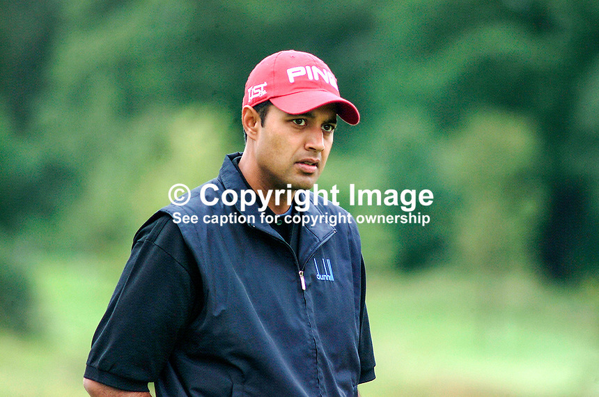 Arjun Atwal, professional golfer, India. Picture taken during practice for the Smurfit European Golf Champsionship at the K Club, Co Kildare, Rep of Ireland. Ref: 200207025729...Copyright Image from Victor Patterson, 54 Dorchester Park, Belfast, UK, BT9 6RJ..Tel: +44 28 9066 1296.Mob: +44 7802 353836.Voicemail +44 20 8816 7153.Skype: victorpattersonbelfast.Email: victorpatterson@mac.com.Email: victorpatterson@ireland.com (back-up)..IMPORTANT: If you wish to use this image or any other of my images please go to www.victorpatterson.com and click on the Terms & Conditions. Then contact me by email or phone with the reference number(s) of the image(s) concerned.