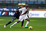 Victor Ibarbo, Juan Jesus in action during the Serie A football match Inter Milan vs Cagliari at Milan, on February 23, 2014.  <br /> <br /> Pierre Teyssot