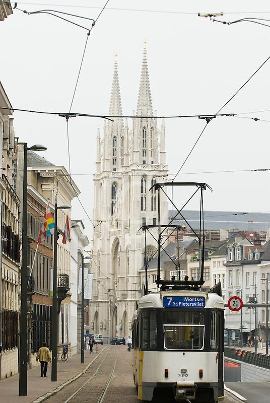 Belgium, Antwerp, Streetcar