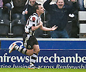 ST MIRREN'S PAUL MCGOWAN CELEBRATES AFTER HE SCORES ST MIRREN'S SECOND