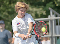 Moscow, Russia, 15 th July, 2016, Tennis,  Davis Cup Russia-Netherlands, First rubber: Andrey Rublev (RUS) <br /> Photo: Henk Koster/tennisimages.com