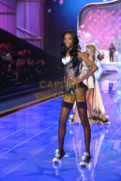 LONDON, ENGLAND - DECEMBER 02: Model on the runway at the annual Victoria's Secret fashion show at Earls Court on December 2, 2014 in London, England.<br /> CAP/PL<br /> &copy;Phil Loftus/Capital Pictures