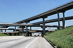 ROADS, OVERPASSES, AND BRIDGES, HOUSTON, TEXAS, USA.