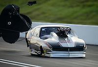 Jun. 15, 2012; Bristol, TN, USA: NHRA pro mod driver Danny Rowe during qualifying for the Thunder Valley Nationals at Bristol Dragway. Mandatory Credit: Mark J. Rebilas-
