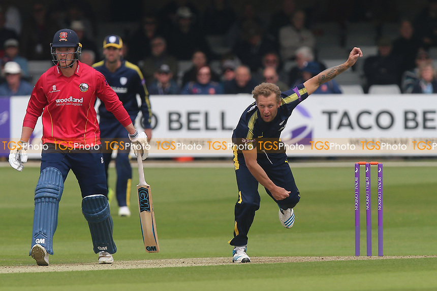 Gareth Berg in bowling action for Hampshire during Essex Eagles vs Hampshire, Royal London One-Day Cup Cricket at The Cloudfm County Ground on 30th April 2017