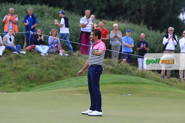 Mike Lorenzo-Vera (FRA) on the 4th green during Round 4 of the 2016 KLM Open at the Dutch Golf Club at Spijk in The Netherlands on  Sunday 11/09/16.<br /> Picture: Thos Caffrey | Golffile