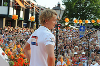 TURNEN: LEMMER: centrum Lemmer, 17-08-2012, Huldiging Olympisch kampioen Epke Zonderland, duizenden toeschouwers aanwezig in Lemmer, ©foto Martin de Jong