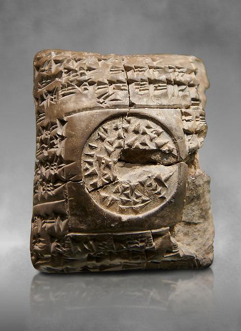 Hittite cuneiform clay tablet. A Property donation deed - Hattusa (Bogazkoy),  1700 BC to 1500BC - Museum of Anatolian Civilisations, Ankara, Turkey