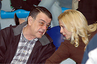 Minos Kyriakou with his with his wife Mari Konstandatou in Athens. 17 December 2005
