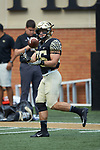 Wake Forest Demon Deacons running back Cade Carney (36) warms-up prior to the game against the Rice Owls at BB&T Field on September 29, 2018 in Winston-Salem, North Carolina. The Demon Deacons defeated the Owls 56-24. (Brian Westerholt/Sports On Film)