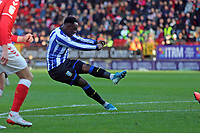Moses Odubajo of Sheffield Wednesday shot goes wide during Charlton Athletic vs Sheffield Wednesday, Sky Bet EFL Championship Football at The Valley on 30th November 2019