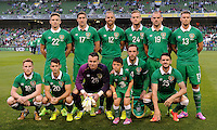 3rd September 2014; International Friendly, Republic of Ireland v Oman, Aviva Stadium, Dublin. <br /> The Ireland team.<br /> Picture credit: Tommy Grealy/actionshots.ie.