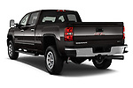 Car pictures of rear three quarter view of a 2018 GMC Sierra 3500HD 2WD Crew Cab Standard Box SLT 4 Door Pick Up angular rear