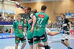06.10.2019, Klingenhalle, Solingen,  GER, 1. HBL. Herren, Bergischer HC vs. TSV GWD Minden, <br /> <br /> im Bild / picture shows: <br /> Max Darj (BHC #5), wird von MAX STAAR (Minden #27), hart angegriffen. <br /> <br /> <br /> Foto © nordphoto / Meuter