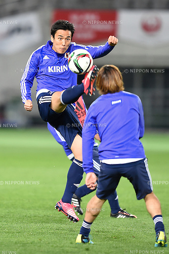 Makoto Hasebe (JPN), <br /> MARCH 30, 2015 - Football / Soccer : <br /> Japan training session <br /> at Tokyo Stadium in Tokyo, Japan. <br /> (Photo by AFLO SPORT)