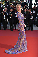 CANNES, FRANCE - MAY 11: Victoria Silvstedt waves as she attends the screening of 'Ash Is The Purest White (Jiang Hu Er Nv)' during the 71st annual Cannes Film Festival at Palais des Festivals on May 11, 2018 in Cannes, France. <br /> CAP/PL<br /> &copy;Phil Loftus/Capital Pictures