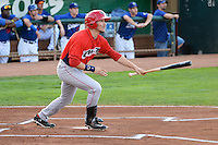 Mark Shannon (41) of the Orem Owlz at bat against the Ogden Raptors at Lindquist Field on August 28, 2013 in Ogden Utah.  (Stephen Smith/Four Seam Images)