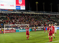 Carson, CA - Sunday January 28, 2018: American Outlaws, USMNT, Fans during an international friendly between the men's national teams of the United States (USA) and Bosnia and Herzegovina (BIH) at the StubHub Center.