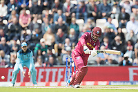 Shimron Hetmyer (West Indies) pushes into the on side for a single during England vs West Indies, ICC World Cup Cricket at the Hampshire Bowl on 14th June 2019