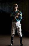 SANTA ANITA, CA- MARCH 31:  Jospeh Talamo poses for a portrait during the Jockey's II Portrait Shoot at the Santa Anita Race Track on March 31, 2009 in Santa Anita, California. (Photo by Donald Miralle for Discovery Communications)