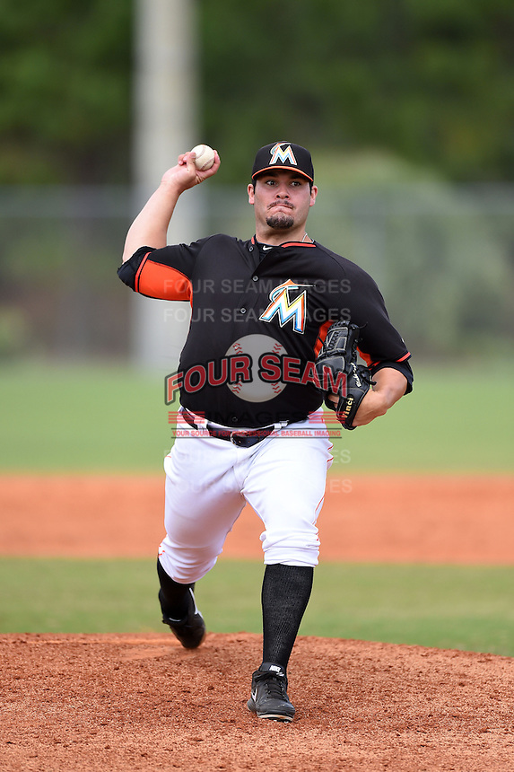 Miami Marlins pitcher Blake Logan (67) during a minor league spring training game against the New York Mets on March 28, 2014 at the Roger Dean Stadium Complex in Jupiter, Florida.  (Mike Janes/Four Seam Images)