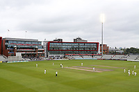 General view of play under the floodlights during Lancashire CCC vs Essex CCC, Specsavers County Championship Division 1 Cricket at Emirates Old Trafford on 7th September 2017