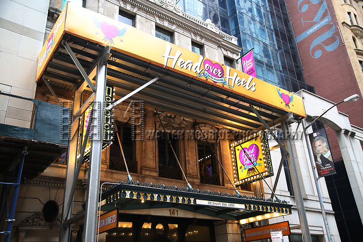 Theatre Marquee unveiling for 'Head Over Heels', Featuring Songs of the Go-Go's, at The Hudson Theatre on March 20, 2018 in New York City.