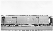 #60 baggage &amp; mail car at Alamosa.  46 feet long.<br /> D&amp;RGW  Alamosa, CO  Taken by Maxwell, John W. - 1/18/1946