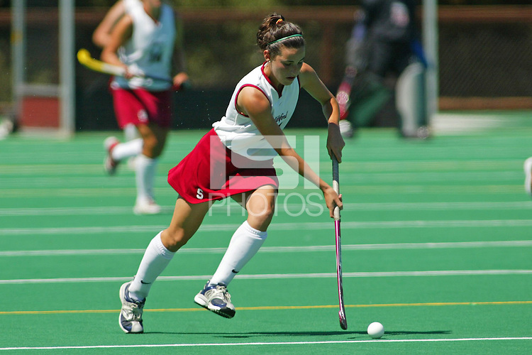 27 August 2005: Caroline Hussey during Stanford's 2-1 overtime loss to Miami (Ohio) at the Varsity Turf Field in Stanford, CA.