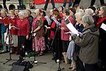 May Day march and rally at Trafalgar Square, May 1st, 2010 London Socialist Choir singing