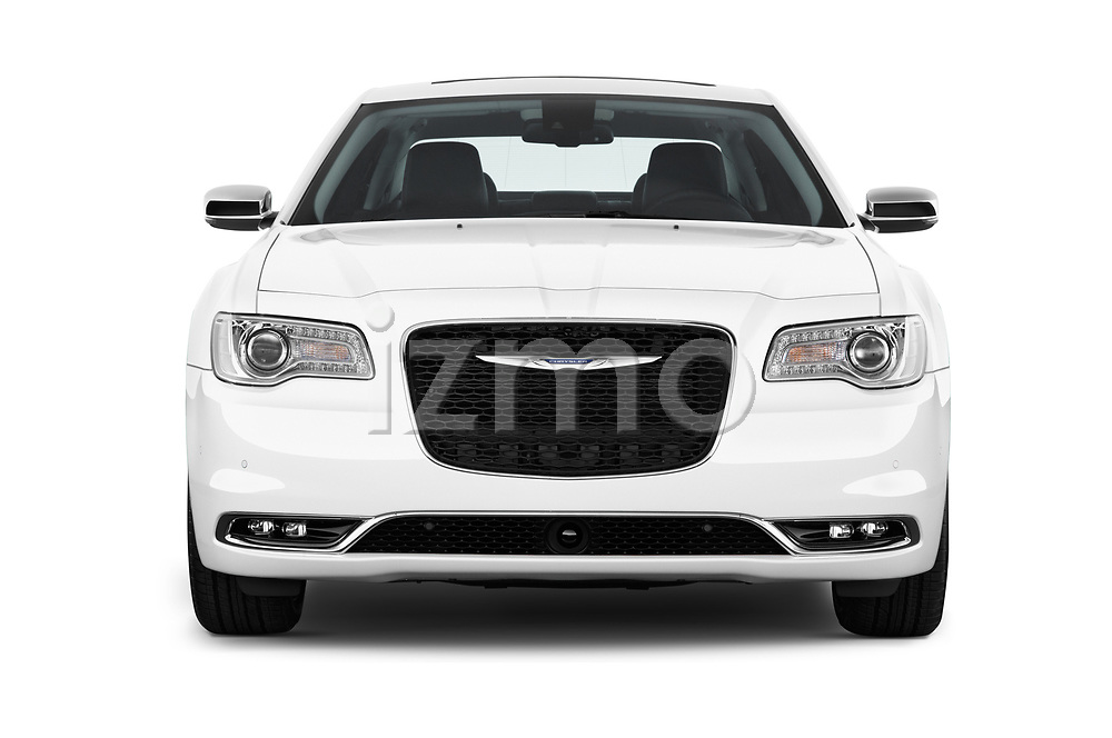 Car photography straight front view of a 2017 Chrysler 300 C 4 Door Sedan Front View