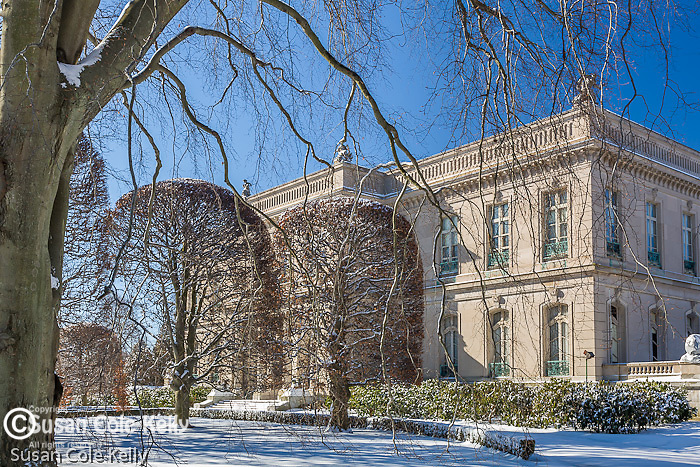 The Elms mansion in winter, Newport, RI