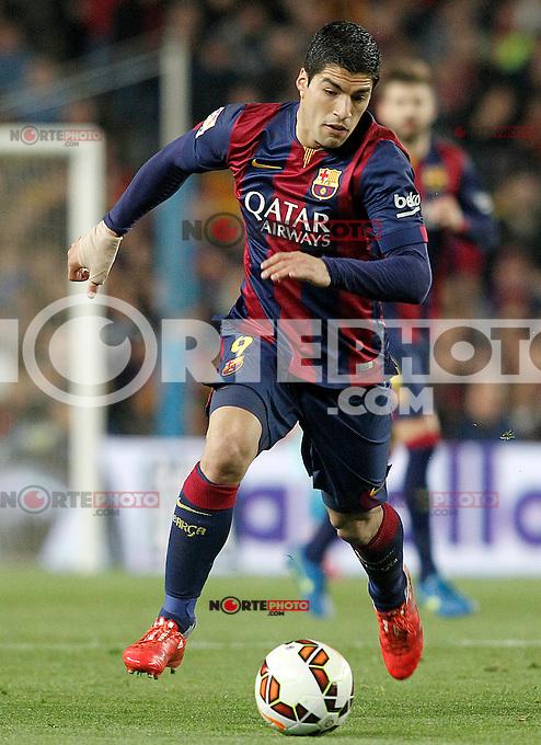 FC Barcelona's Luis Suarez during La Liga match.March 22,2015. (ALTERPHOTOS/Acero) /NORTEphoto.com