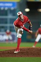 Houston Cougars relief pitcher Dylan Lester (36) follows through on his delivery against the Vanderbilt Commodores during game nine of the 2018 Shriners Hospitals for Children College Classic at Minute Maid Park on March 3, 2018 in Houston, Texas. The Commodores defeated the Cougars 9-4. (Brian Westerholt/Four Seam Images)