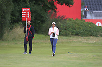 Cheyenne Woods (USA) on the 1st during Round 2 of the Ricoh Women's British Open at Royal Lytham &amp; St. Annes on Friday 3rd August 2018.<br /> Picture:  Thos Caffrey / Golffile<br /> <br /> All photo usage must carry mandatory copyright credit (&copy; Golffile | Thos Caffrey)