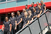 07.10.2015 Silver Ferns team at the naming of the Silver Ferns squad for the upcoming series against Australia. Mandatory Photo Credit ©Michael Bradley.