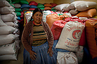 A picture dated September 11, 2011 shows Guadalupe Nina in her seeds deposit  in the region of the Uyuni Salt Flats, Jirira, in Oruro, Bolivia.  2013  was declared the international year of Quinoa by the UN.  Bolivia is the main producer of quinoa in the world.