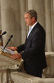 United States President George W. Bush makes remarks at the National Day of Prayer Service at the Washington National Cathedral in Washington, D.C. on Friday, September 14, 2001..Credit: Ron Sachs / CNP