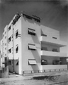 Bauhaus style architecture, Tel Aviv. The Hotel Europa, photographer Itzhak Kalter.