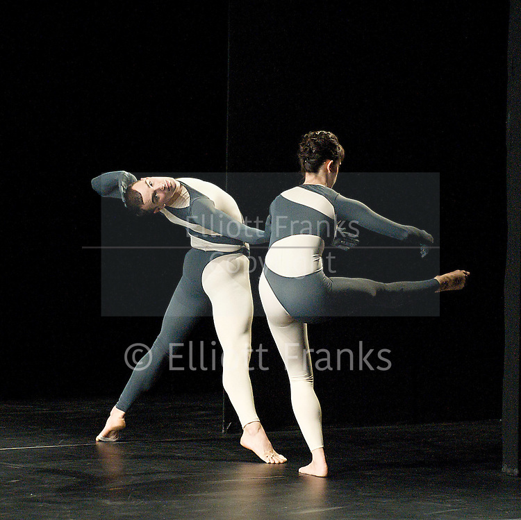 Nearly Ninety<br /> The Merce Cunningham Dance Company <br /> choreography by Merce Cunningham<br /> at The Barbican Theatre, London, Great Britain <br /> rehesrsal <br /> 26th October 2010 <br /> <br /> <br /> Brandon Collwes<br /> Emma Desjardins<br /> <br /> <br /> Photograph by Elliott Franks<br /> 2010&copy;Elliott Franks