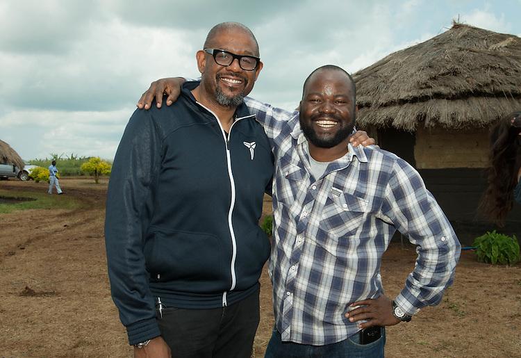 Forest Whitaker and Orach Godfrey Otabi at Hope North, Uganda.