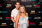 Patricia Montero y Alex Adrover attends the photocall before the concert of colombian singer Juanes in Royal Theater in Madrid, Spain. July 23, 2015.<br />  (ALTERPHOTOS/BorjaB.Hojas)
