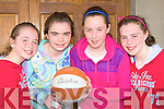 Rock Street/Caherslee team that competed in the u13 Community Games basketball finals in Castleisland on Sunday was l-r: Sophie Cleary, Christine O'Sullivan, Niamh Myers and Courtney Ryan