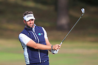 Scott Jamieson (SCO) on the 1st fairway during Round 3 of the Sky Sports British Masters at Walton Heath Golf Club in Tadworth, Surrey, England on Saturday 13th Oct 2018.<br /> Picture:  Thos Caffrey | Golffile