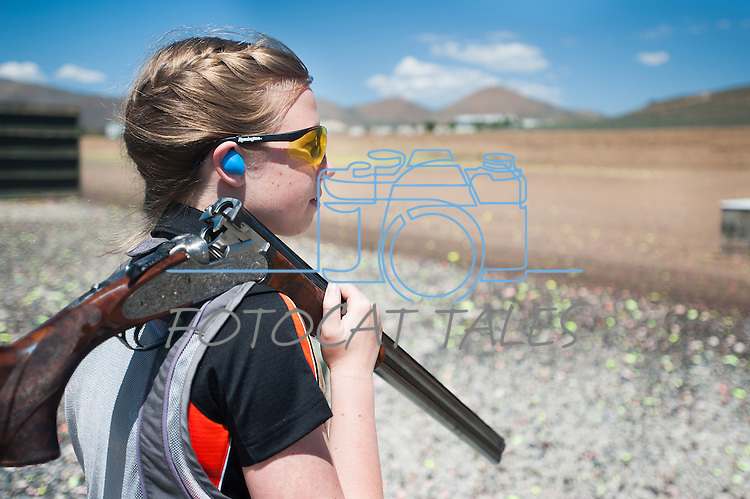 during the California Youth Shotgun Shooting Association&rsquo;s championship shootout at the Capitol City Gun Club in Carson City, Nev. on Saturday, May 2, 2015.<br /> Photo by Kevin Clifford/Nevada Photo Source