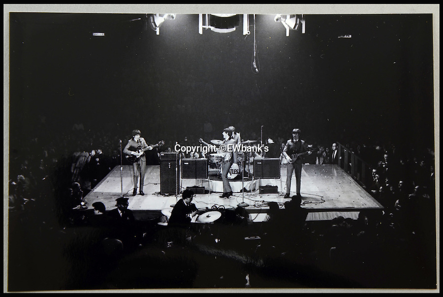 BNPS.co.uk (01202 558833)<br /> Pic: EWbank's/BNPS<br /> <br /> ***Please Use Full Byline***<br /> <br /> A unseen photograph from The Beatles 1965 tour of America.<br /> <br /> The earliest known colour footage of the Beatles has surfaced for the first time.<br /> <br /> The three-and-a-half minute film that has never been seen shows John, Paul, George and Ringo clowning around back stage at the ABC Theatre in Blackpool it August 1963.<br /> <br /> The footage has been made available for sale at auction alongside more than 100 informal photographs of the Beatles that have also never been seen before.